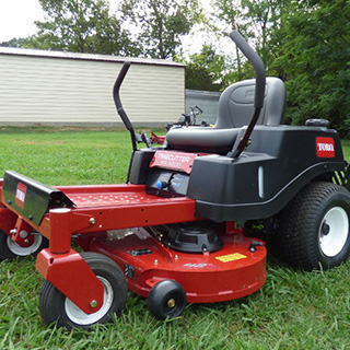 Toro Timecutter mower on grass