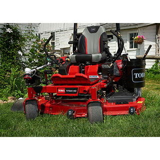 Toro Titan HD on lawn