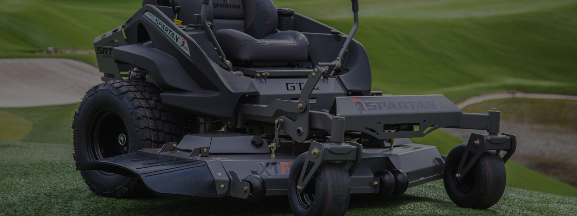Spartan GT mower on golf course